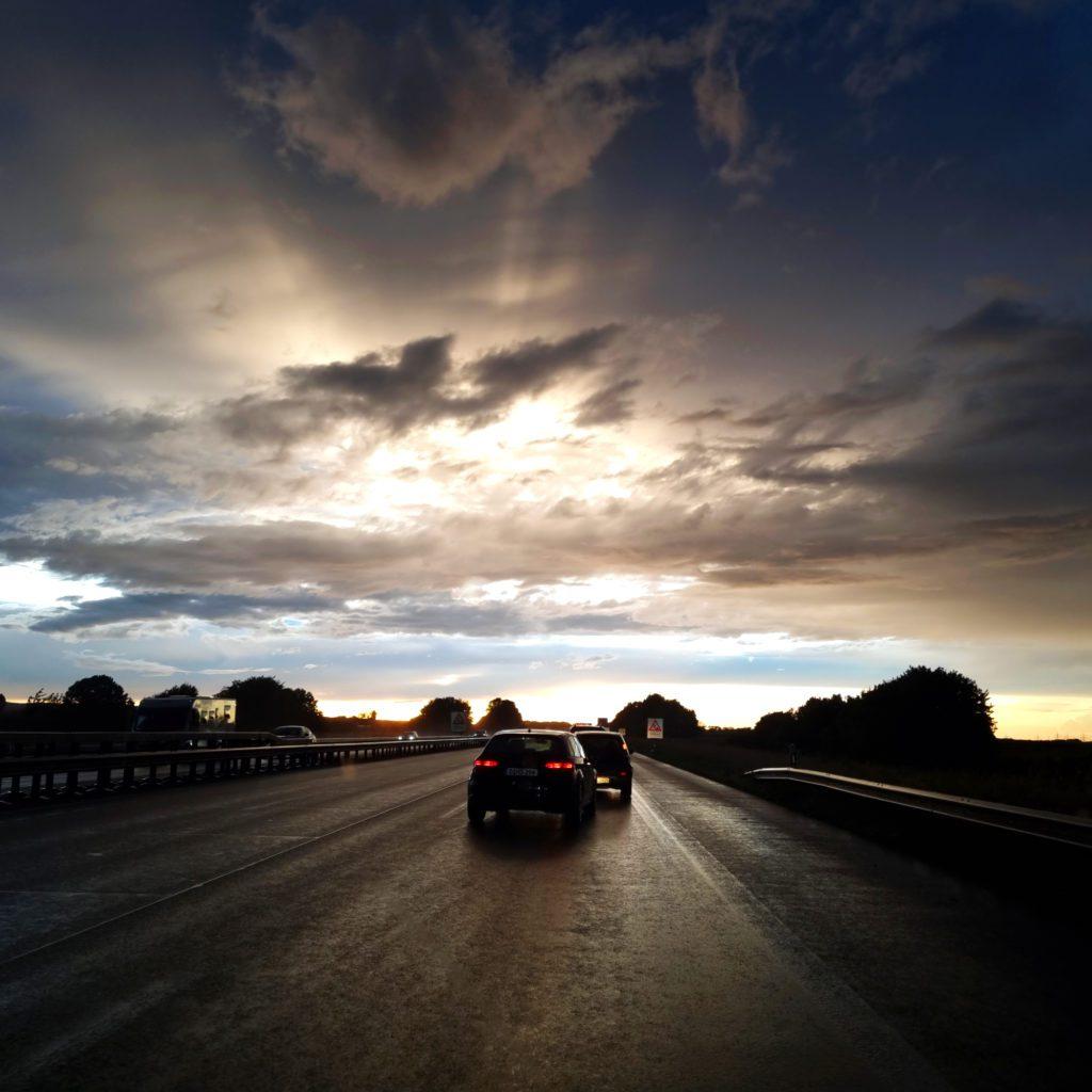 Himmel auf der Rückfahrt von Mayschloß